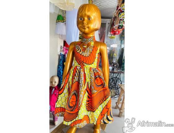 Vêtement : Robes en pagnes pour enfants de 0 à 12ans