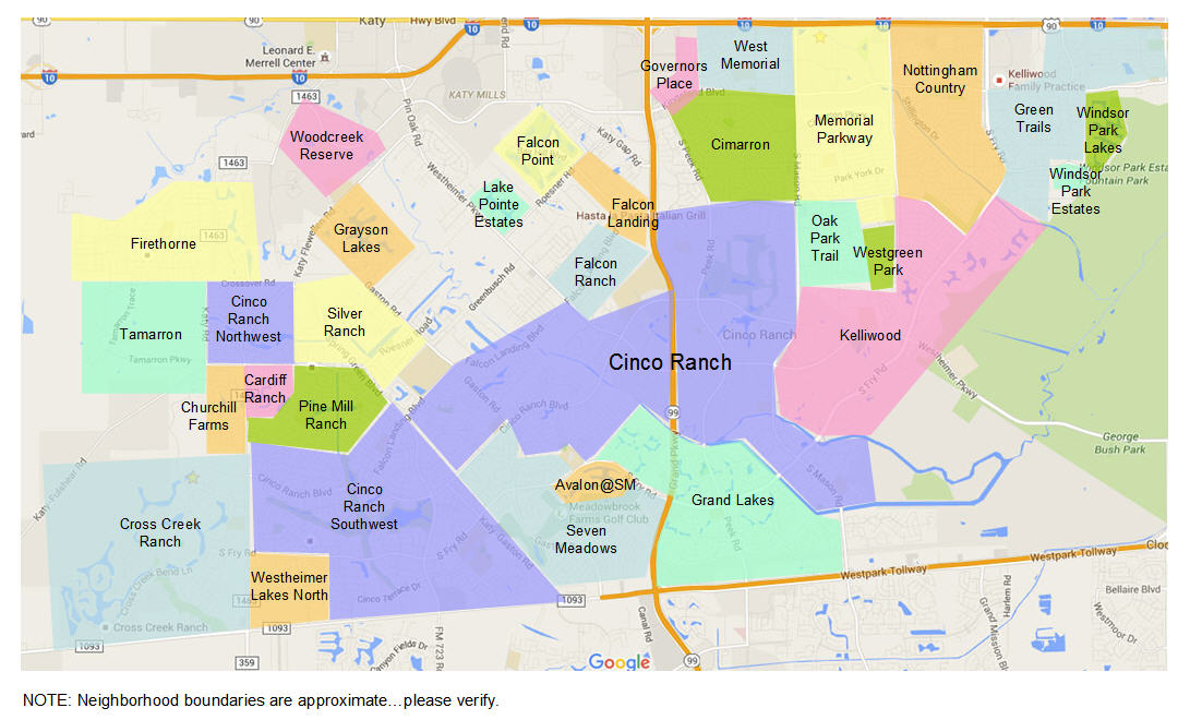 Katy Tx Zip Code Map Katy Neighborhoods   How To Find the Best One for YOU   HAR.com