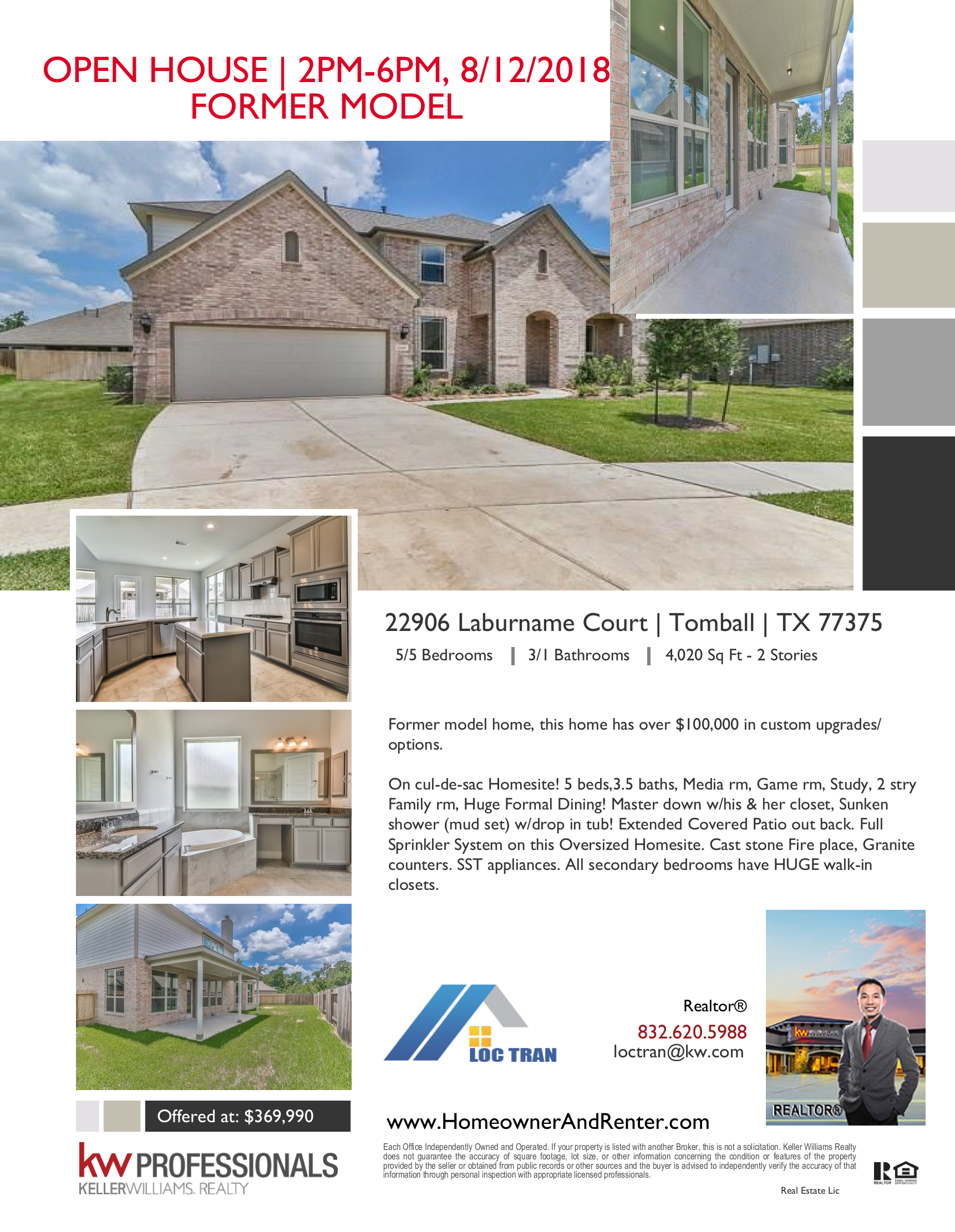 open house in tomball from 2 6 this sunday 8 12 former model home