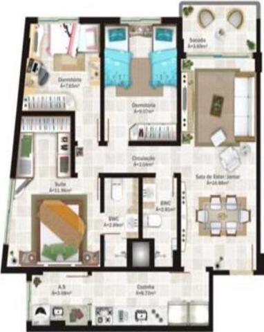 Apartamento Código 9860 a Venda no bairro Capoeiras na cidade de Florianópolis