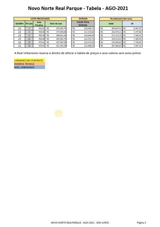 11. NOVO NORTE REALPARQUE - AGO-2021 - SEM JUROS