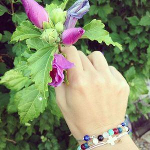 Aglaiaco aglaiaco collection bijoux caprice p%c3%a9tillant bracelet multicouleur.1