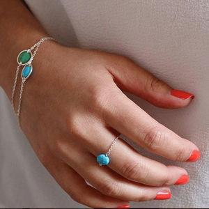 Aglaiaco secretsoflifestyle collection bijoux o bracelet argent turquoise %282%29
