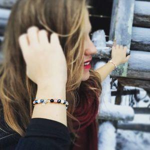 Aglaiaco celinou333 collection bijoux caprice p%c3%a9tillant bracelet multicouleur compressor