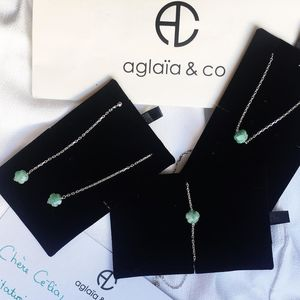 Aglaiaco flower collection bijoux emeraude concours