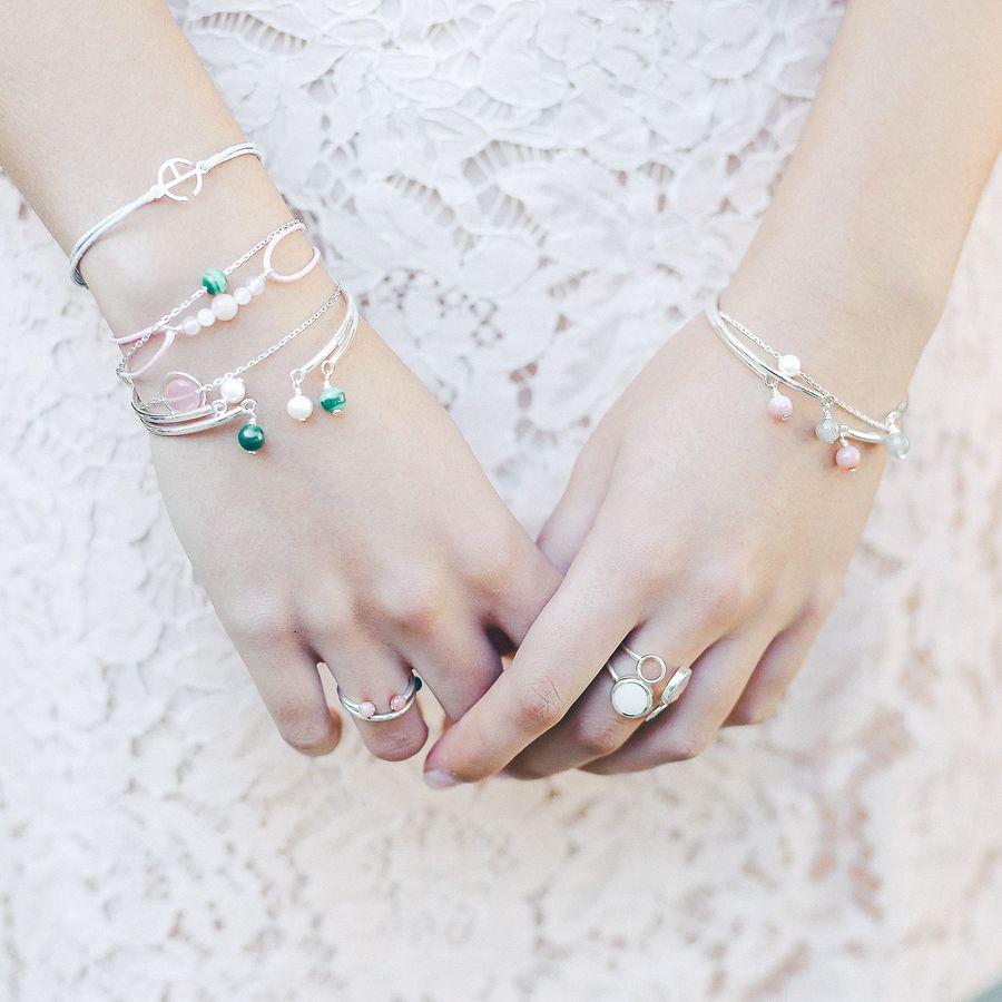 Aglaiaco bijoux argent pierre france ethique bague calcedoine