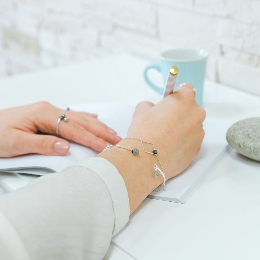 Aglaiaco bijoux argent pierre france ethique creation hematite collection bracelet %281%29
