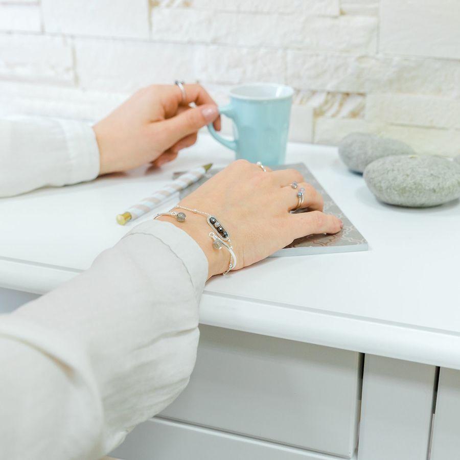 Aglaiaco bijoux argent pierre france ethique creation hematite collection bracelet %282%29