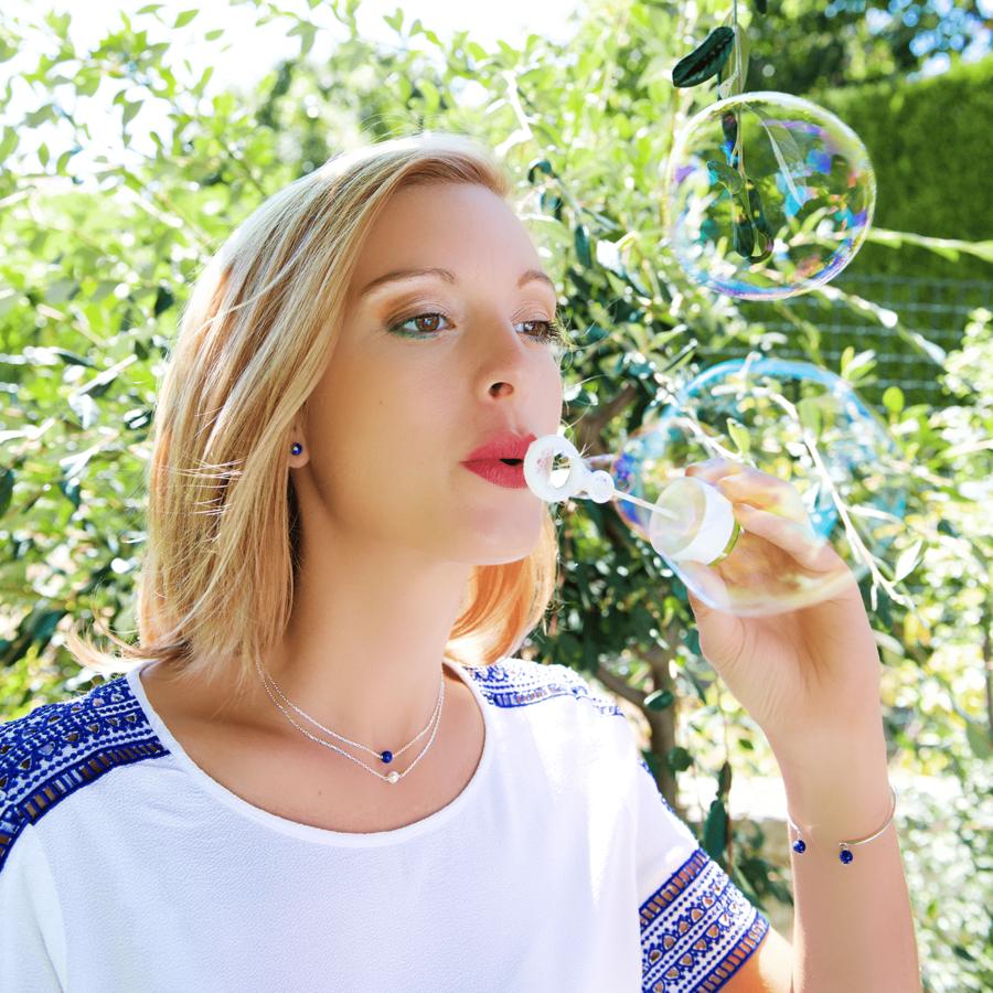 Aglaia bijoux argent pierre lapis lazuli elegance eternelle 1