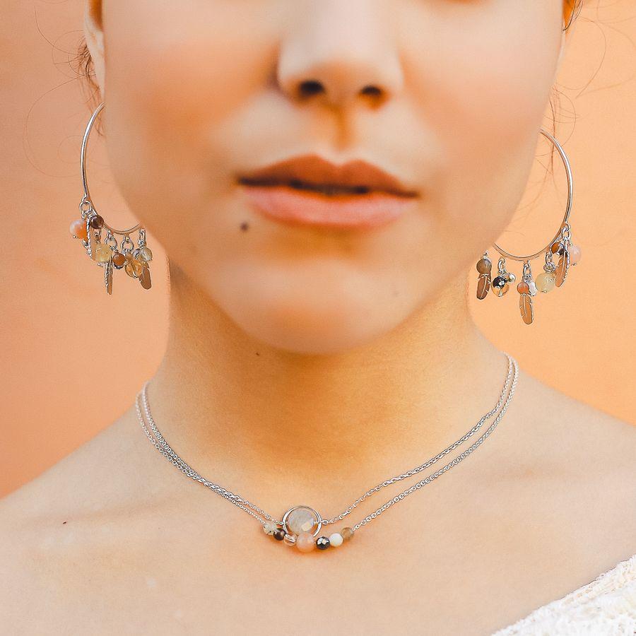 Aglaiaco bijoux argent pierre france ethique collier bo caprice