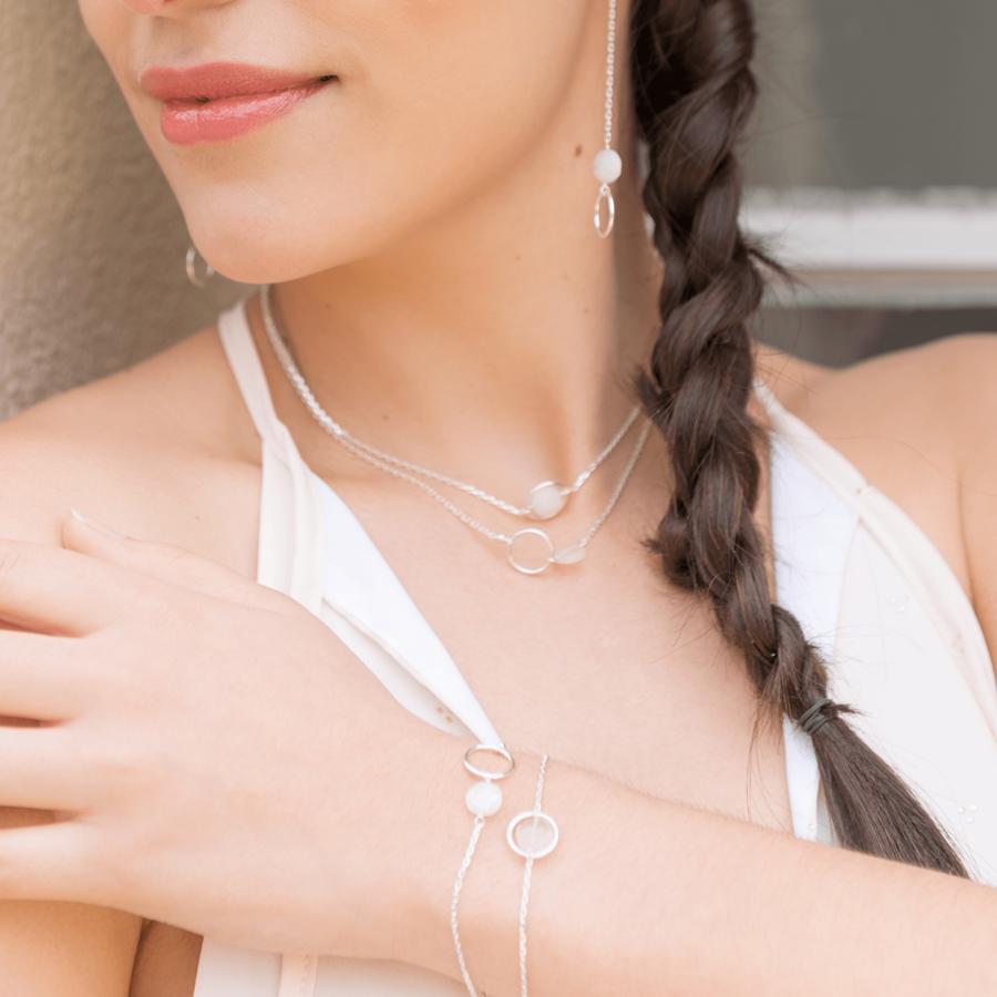 Aglaia bijoux argent pierre silverite o 2