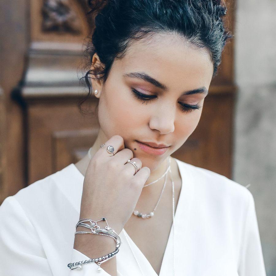 Aglaiaco bijoux argent pierre france ethique boucles perle