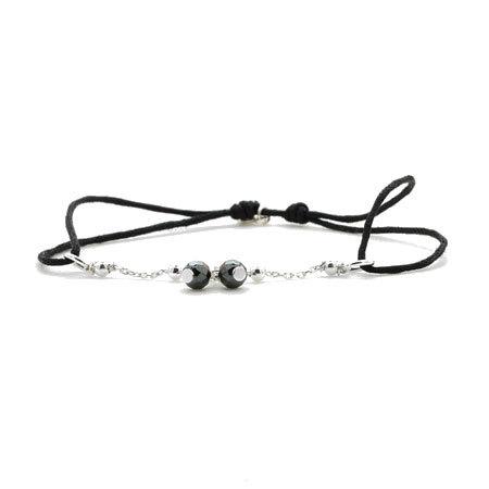 Aglaia bijoux argent pierre bracelet cordon hematite sentiments contraires 1