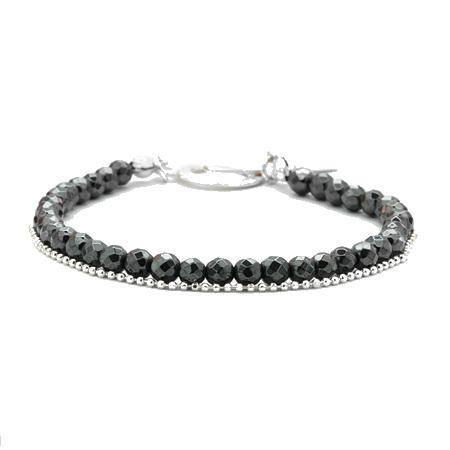 Aglaia bijoux argent pierre bracelet hematite sentiments contraires 1