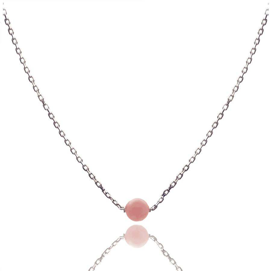 Aglaia bijoux argent pierre collier rhodocrosite elegance eternelle 1