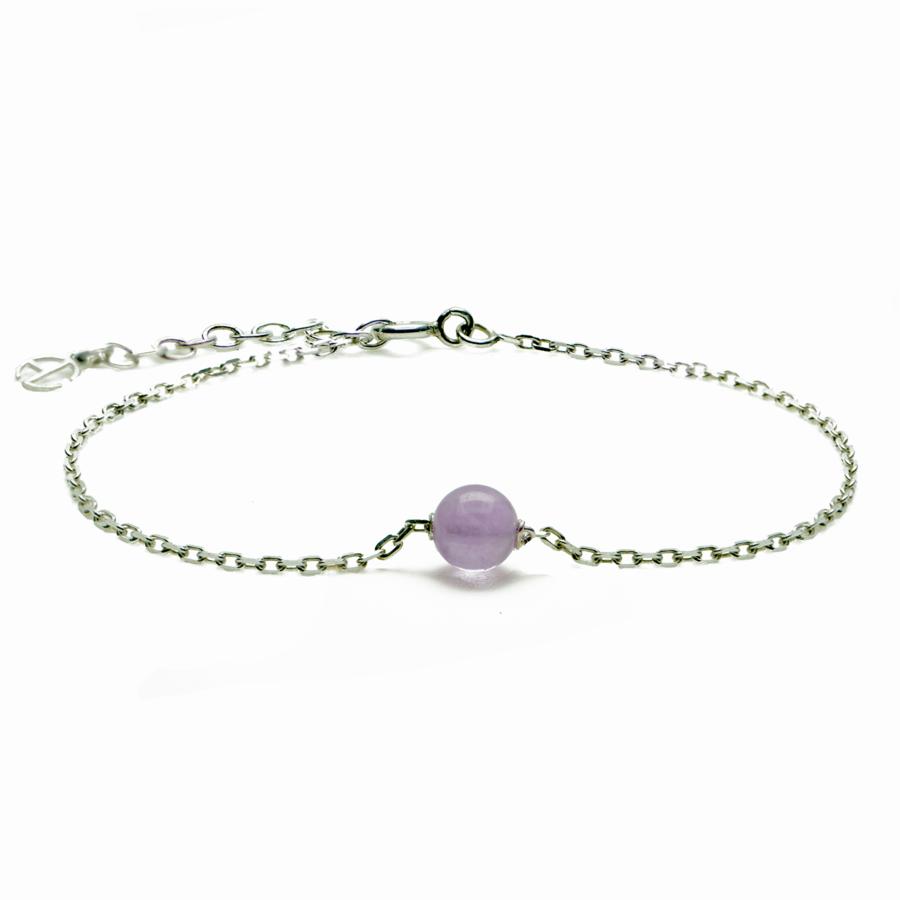 Aglaia bijoux argent pierre bracelet amethyste lavande elegance eternelle 1