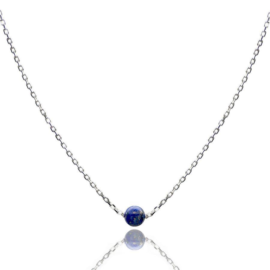 Aglaia bijoux argent pierre collier lapis lazuli elegance eternelle 1
