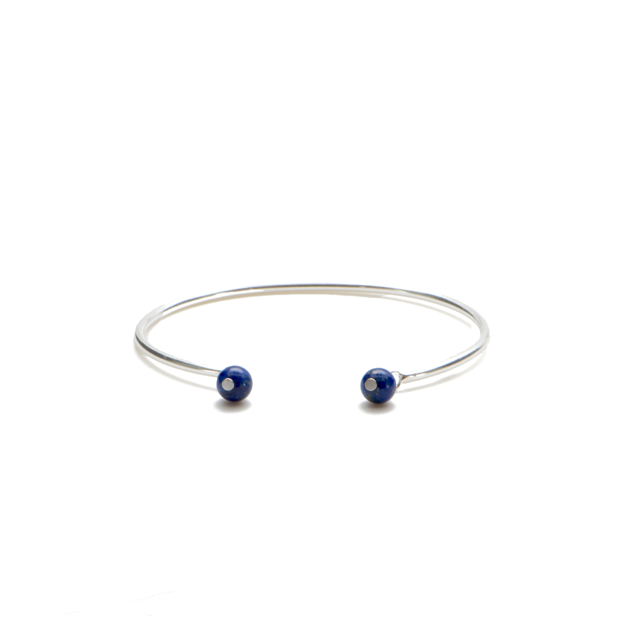 Aglaia bijoux argent pierre bracelet jonc lapis lazuli elegance eternelle 1