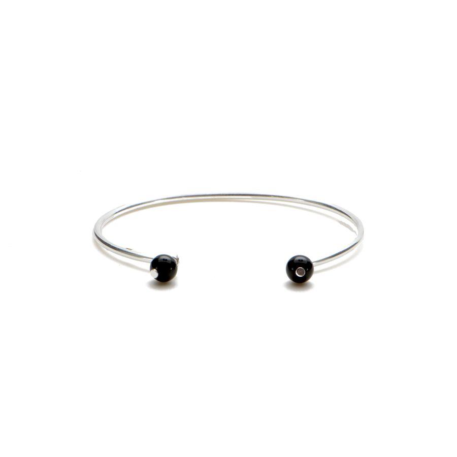Aglaia bijoux argent pierre bracelet jonc onyx elegance eternelle 1