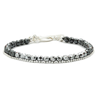 Aglaia bijoux argent pierre bracelet hematite argente sentiments contraires 1