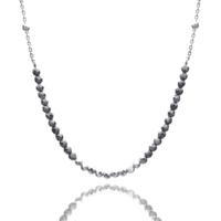 Aglaia bijoux argent pierre collier hematite silver sentiment contraire 1