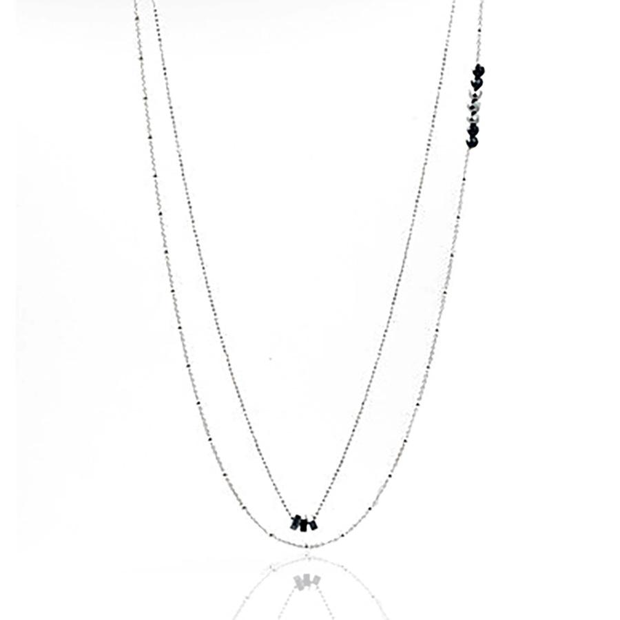 Aglaia bijoux argent pierre sautoir hematite argente sentiments contraires 1