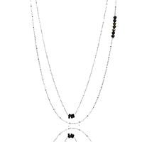 Aglaia bijoux argent pierre sautoir pyrite sentiments contraires 1