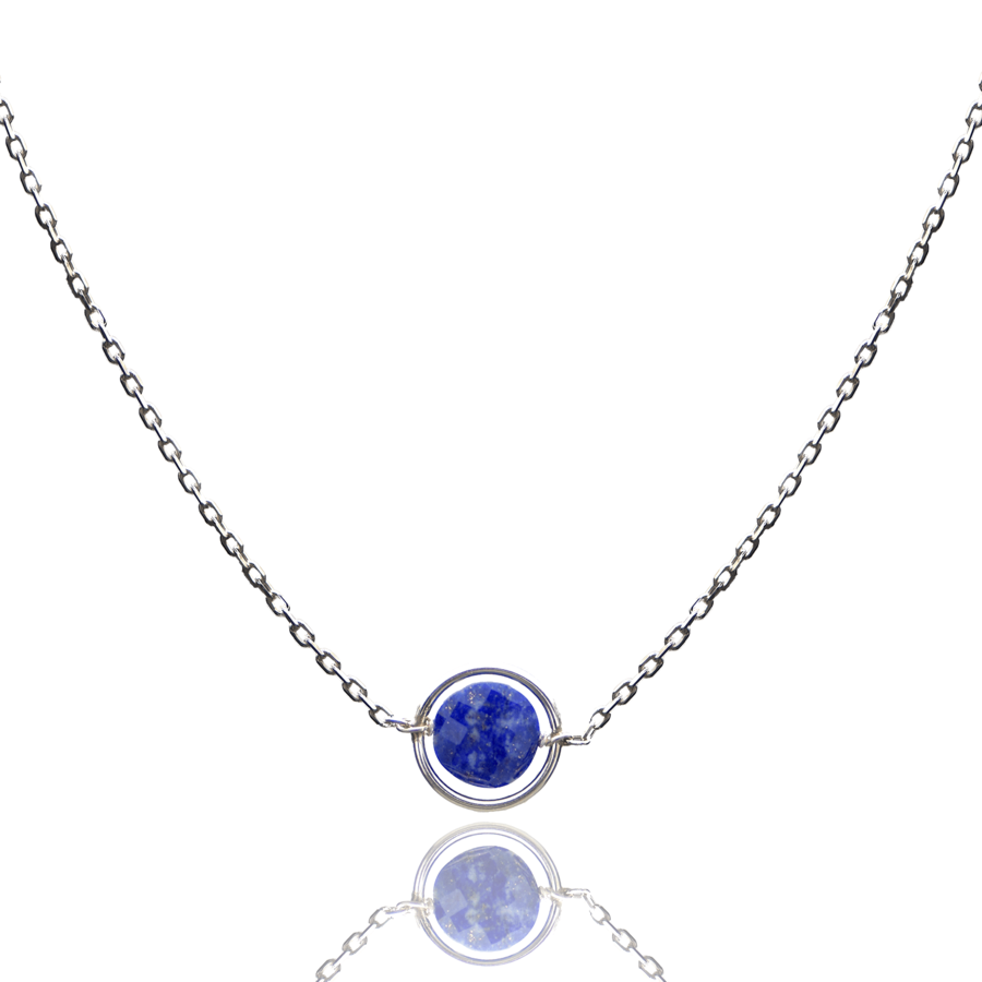 Aglaia bijoux argent pierre collier anneau lapis lazuli o 1