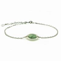 Aglaia bijoux argent pierre bracelet anneau emeraude me 1