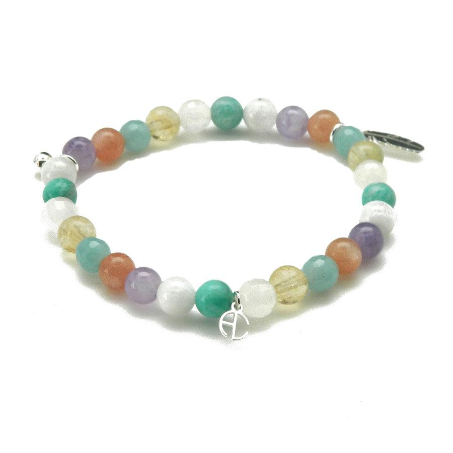 Aglaia bijoux argent pierre bracelet elastique sweet candy 1