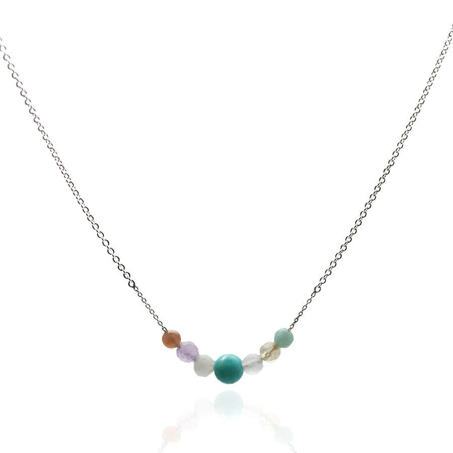 Aglaia bijoux argent pierre collier gourmandise 1
