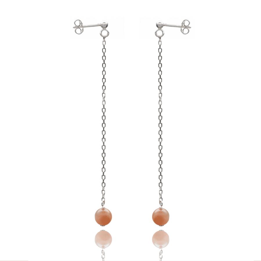 Aglaia bijoux argent pierre boucles oreilles pendant pierre soleil elegance eternelle 1