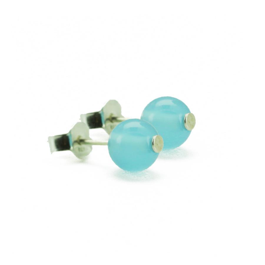Aglaia bijoux argent pierre boucles oreilles chalcedony elegance eternelle 1