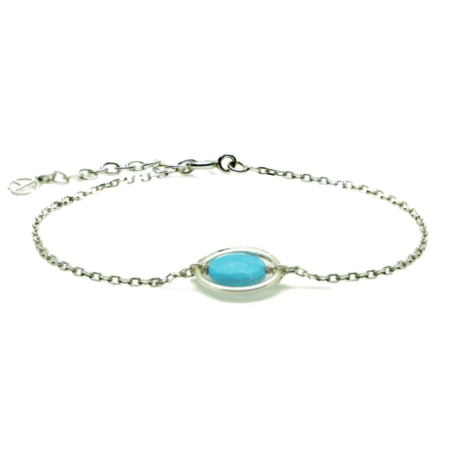 Aglaia bijoux argent pierre bracelet anneau turquoise me 1