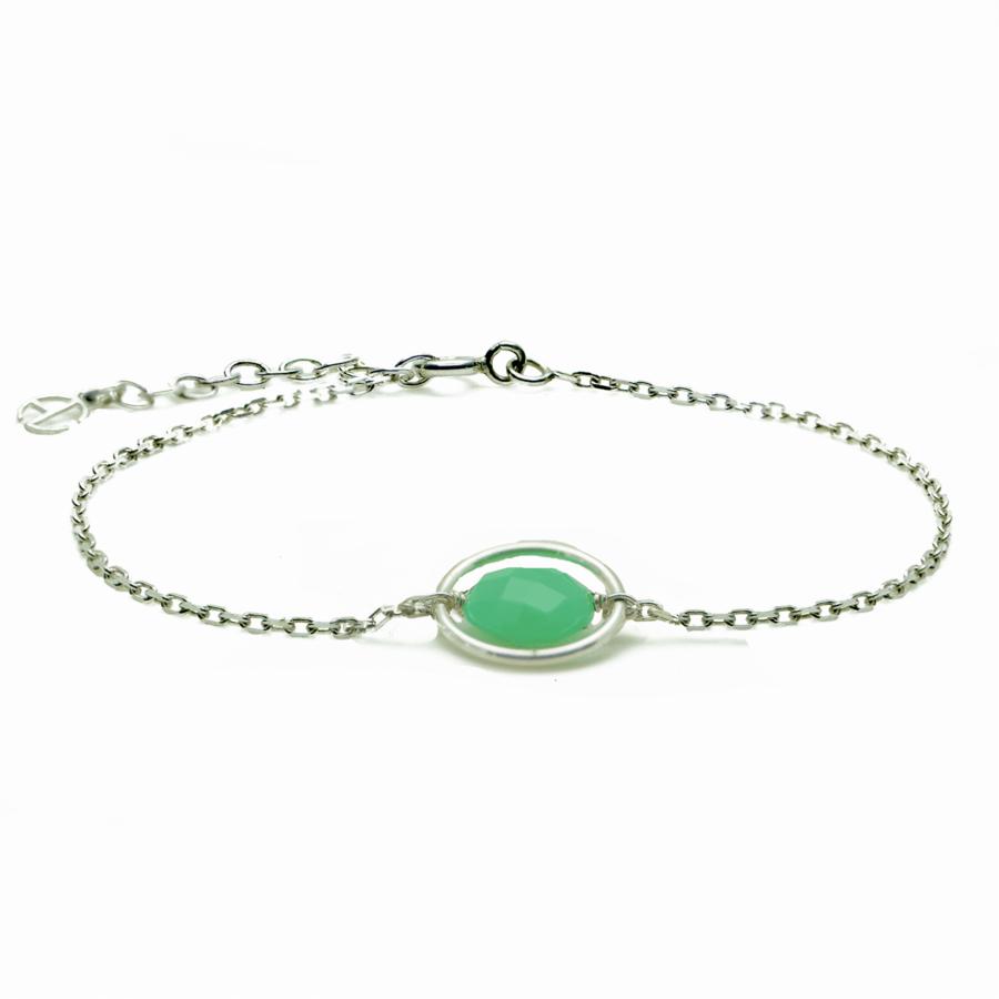 Aglaia bijoux argent pierre bracelet anneau chrysoprase me 1