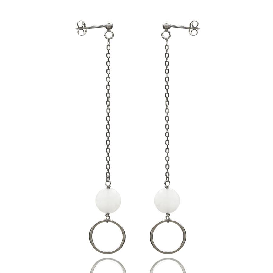 Aglaia bijoux argent pierre boucles oreilles pendantes silverite o 1