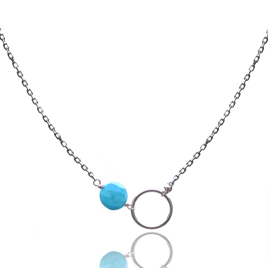 Aglaia bijoux argent pierre collier turquoise o 1