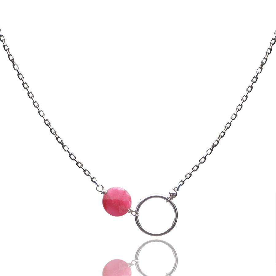 Aglaia bijoux argent pierre collier rubis o 1