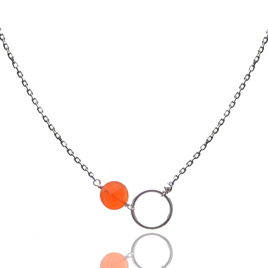 Aglaia bijoux argent pierre collier cornaline o 1