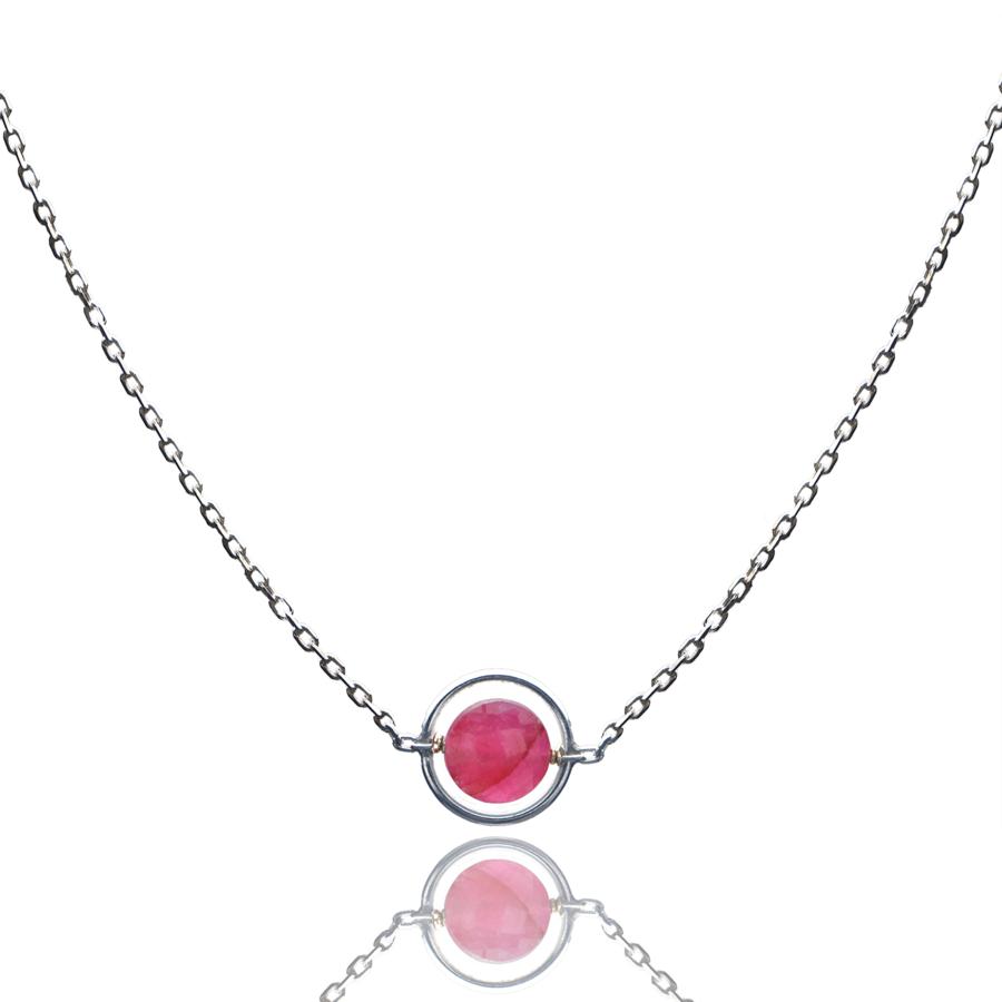 Aglaia bijoux argent pierre collier anneau rubis o 1