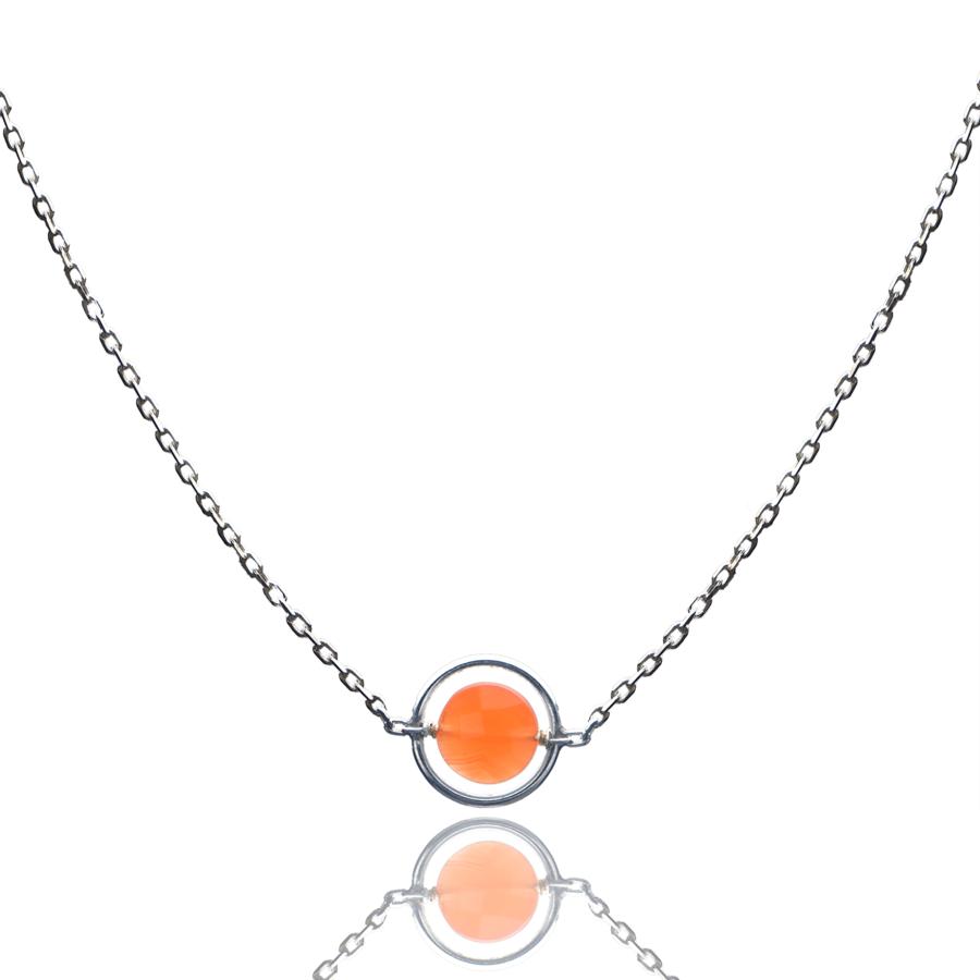 Aglaia bijoux argent pierre collier anneau cornaline o 1