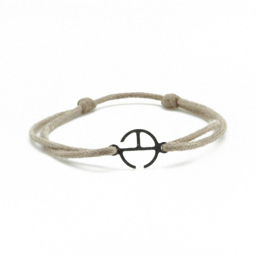 Aglaia bijoux argent pierre bracelet cordon beige signature 1
