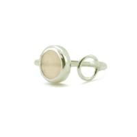 Aglaia bijoux argent pierre bague calcedoine rose o 1