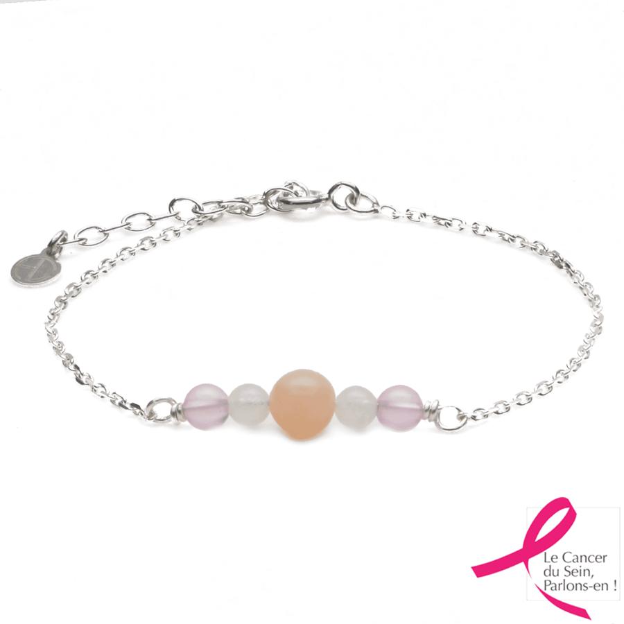 Aglaia bijoux argent pierre bracelet heiva breast cancer 1