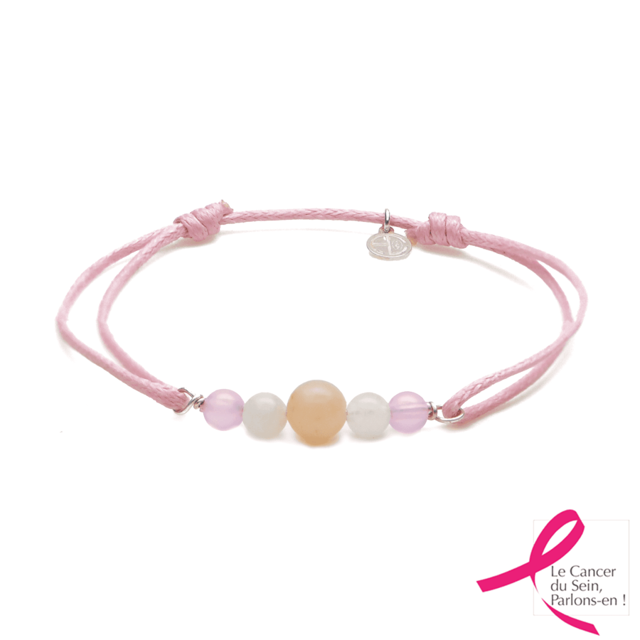 Aglaia bijoux argent pierre bracelet cordon heiva breast cancer 1