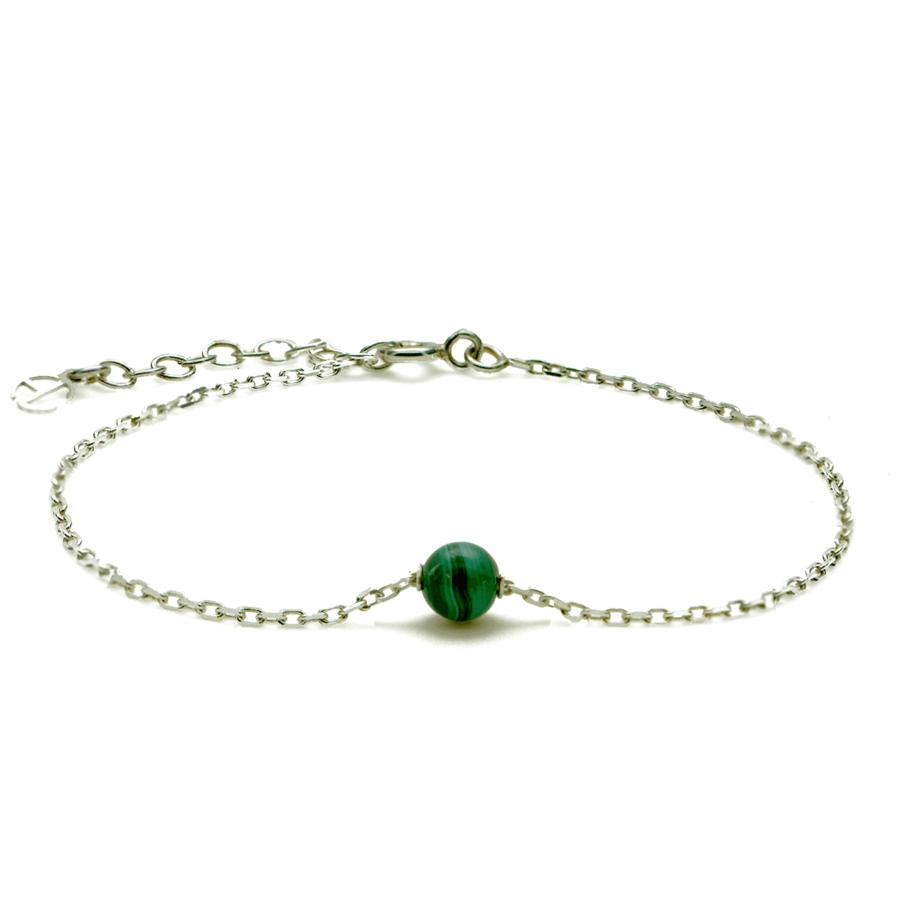 Aglaia bijoux argent pierre bracelet malachite elegance eternelle 1