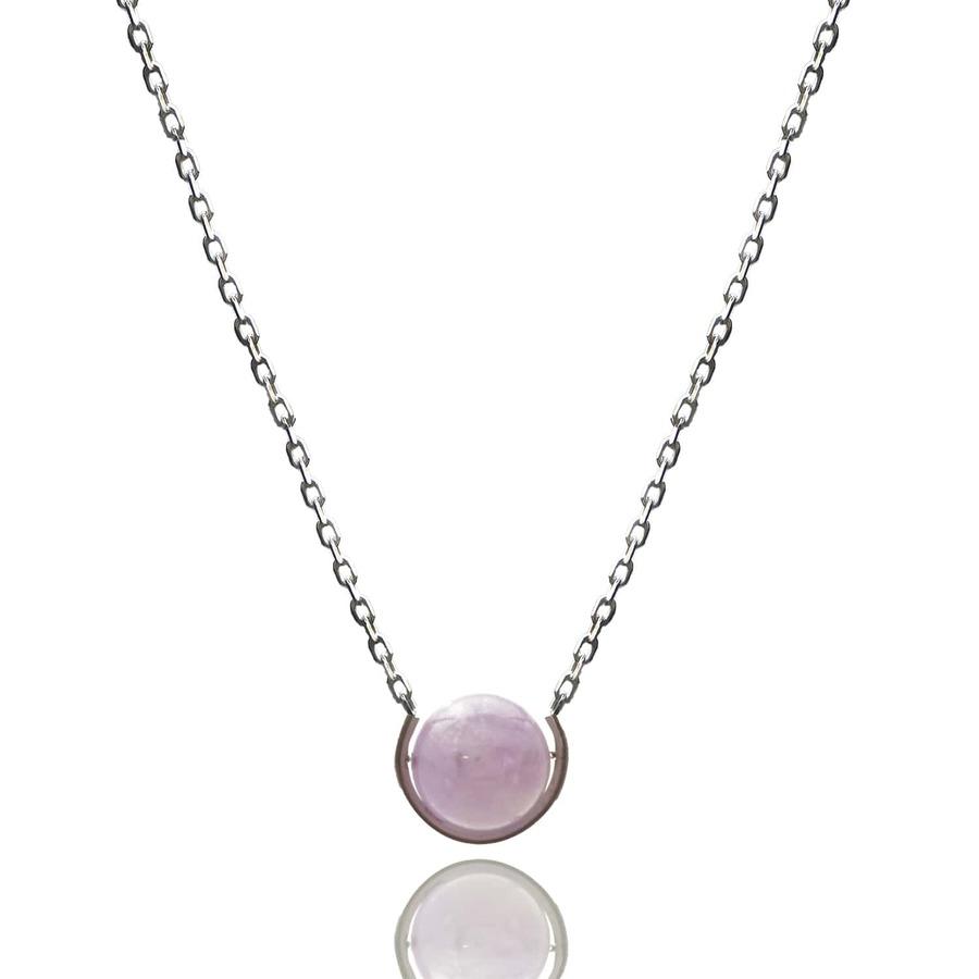 Aglaia bijoux argent pierre sautoir amethyste elegance eternelle 1