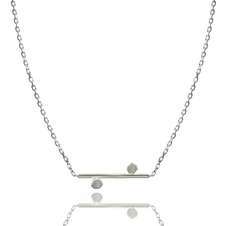 Aglaia bijoux argent pierre collier quartz equilibria 1