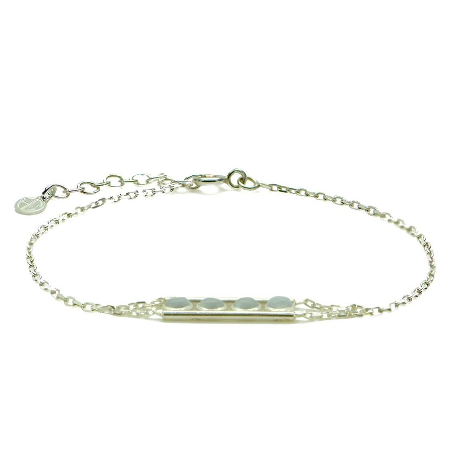 Aglaia bijoux argent pierre bracelet4p quartz equilibria 1
