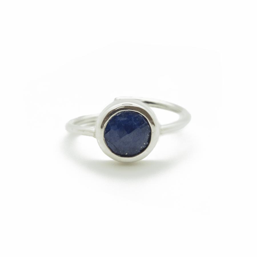 Bague argent lapis lazuli aglaiaco atelier